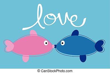 visje, liefde
