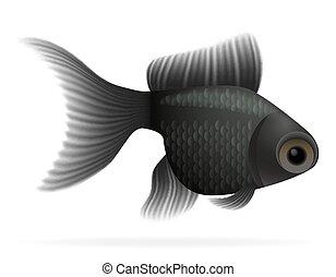 visje, vector, aquarium, illustratie