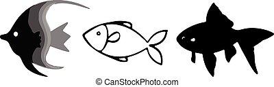 visje, witte achtergrond, pictogram