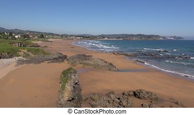 Viso Beach - great Beach named Viso in Asturias at Spain...