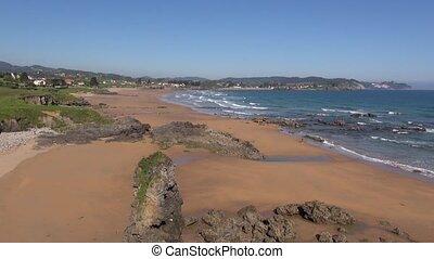 Viso Beach - great Beach named Viso in Asturias at Spain...