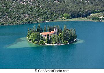 visovac, kloster, kroatien