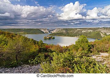 visovac, landschaftsbild