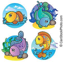 vissen, 1, freshwater, gevarieerd