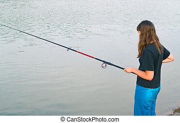 vissen, girl-teenager