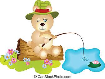 visserij, beer, teddy
