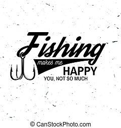 visserij, sportende, club., vector, illustration.