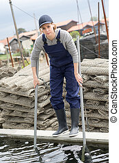 visserij, werkende