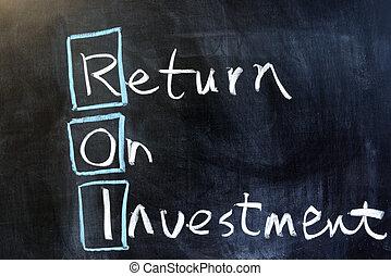 visszatérés, befektetés