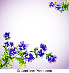 visszaugrik virág, meghívás, sablon