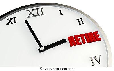 visszavonultság, idő