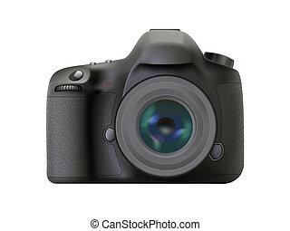 visszfény, fényképezőgép, modern, digitális