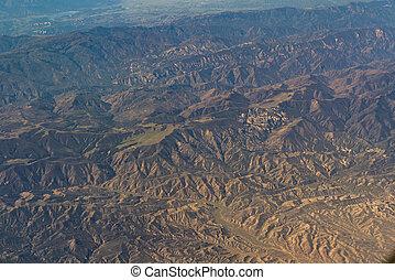 vista aérea, de, califórnia, san andreas