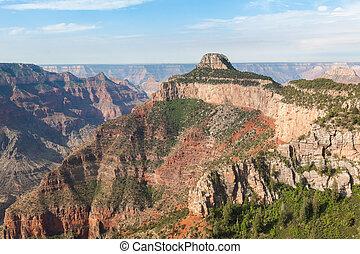 vista aérea, de, desfiladeiro grandioso parque nacional, em, arizona