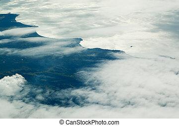 vista aérea, de, ilha