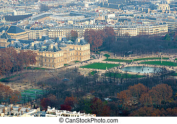 vista aérea, de, paris, (france)
