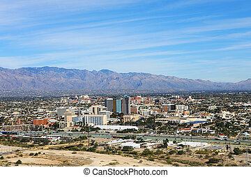 vista aérea, de, tucson, arizona