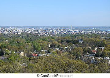 vista aérea, de, washington dc