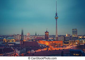 vista, aéreo, berlín, alemania