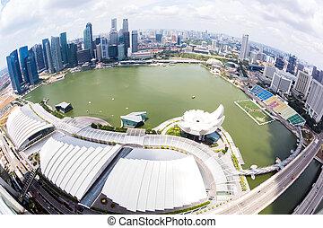 vista, aéreo, singapur