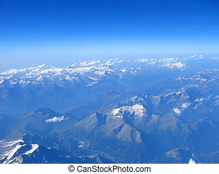 vista aerea, di, alpi, montagne, francia