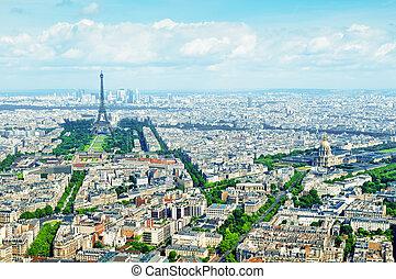 vista aerea, di, parigi