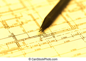 vista, architetto, cima,  worplace