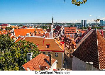 vista, cidade velha, estónia, tallinn