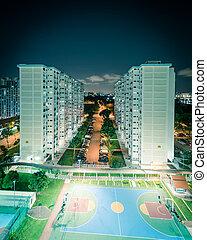 vista, complejo, singapur, cima, vecindad, tarde, eunos, hdb
