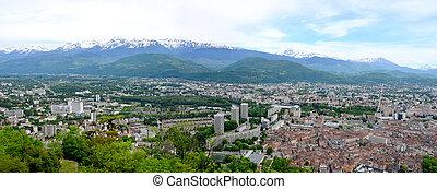vista, de, a, alps-europe, montanha, em, grenoble, france.
