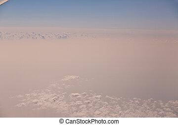vista, de, a, avião