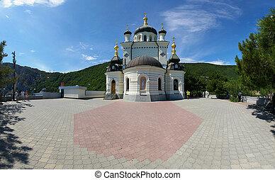 vista, de, a, igreja ortodoxa, foros, em, crimea
