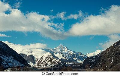 vista, de, a, montanhas
