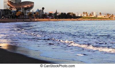 vista, de, a, porto, olímpico, em, barcelona, espanha