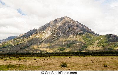 vista, de, alpes del sur, nueva zelandia