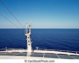vista, de, arco, de, vaya barco