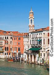 vista, de, canal grande, en, venecia