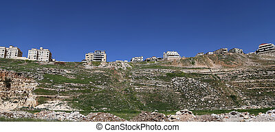 vista, de, el, moderno, casas, amman, jordania, medio oriente