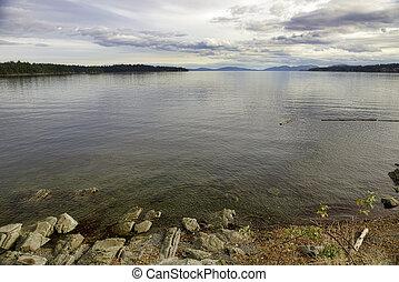 vista, de, el, océano pacífico, de, ladysmith, isla de vancouver, ac