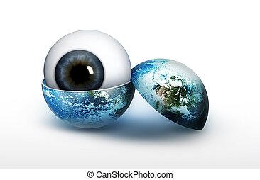 vista, de, el, planeta