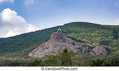 vista, de, foros, em, a, igreja ressurreição cristo, ficar,...