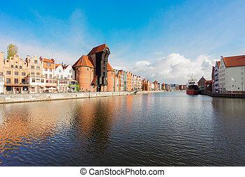 vista, de, gdansk, polônia