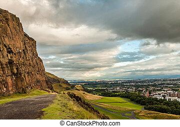 vista, de, la ciudad, de, colinas