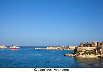 vista, de, magnífico, puerto
