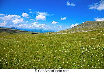 vista, de, montanhas, paisagem