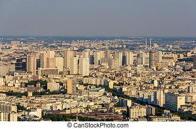 vista, de, paris, de, maine-montparnasse, torre, -, frança