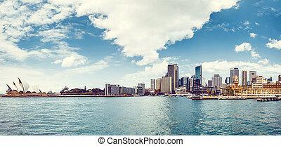 vista, de, puerto de sydney