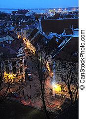 vista, de, residencial, distric, em, cidade velha