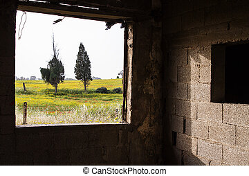 Pietra vecchio veranda legno bianco forte vista for Piani ponte veranda