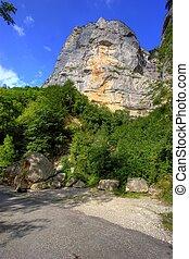 vista, di, il, alpi francesi